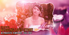 Wedding Love Story stock footage