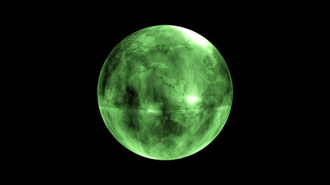 Earth Orb Green Animation