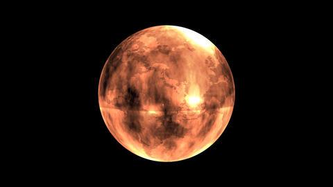 Earth Orb Orange Animation