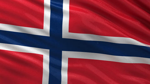 Flag of Norway seamless loop Animation