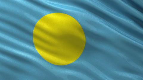 Flag of Palau seamless loop Animation