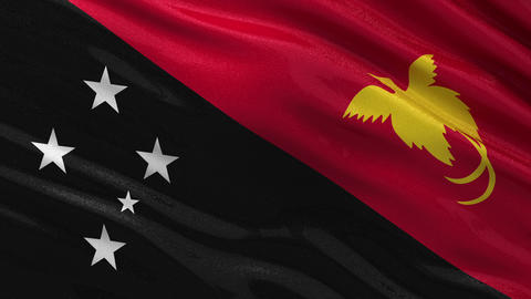 Flag of Papua New Guinea seamless loop Animation