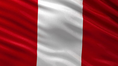Flag of Peru seamless loop Animation