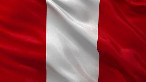 Flag of Peru seamless loop Stock Video Footage