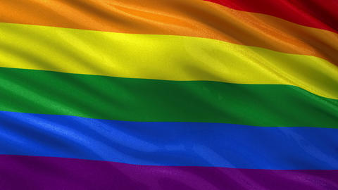 Rainbow flag seamless loop Animation