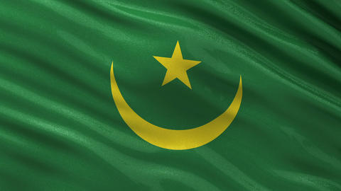 Flag of Mauritania seamless loop Animation