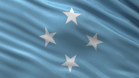 Flag of Micronesia seamless loop Animation