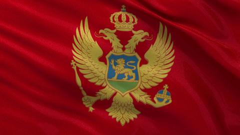 Flag of Montenegro seamless loop Stock Video Footage
