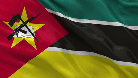Flag of Mozambique seamless loop Stock Video Footage