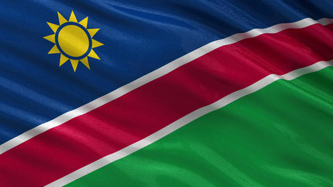 Flag of Namibia seamless loop Animation