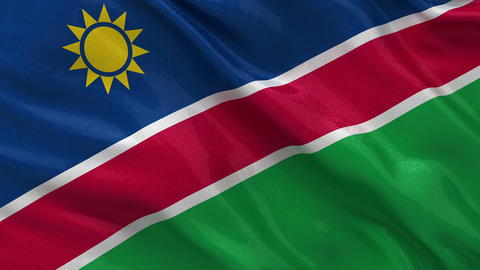 Flag of Namibia seamless loop, Stock Animation