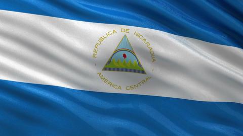 Flag of Nicaragua seamless loop Animation