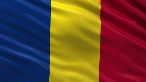 Flag of Romania seamless loop Animation