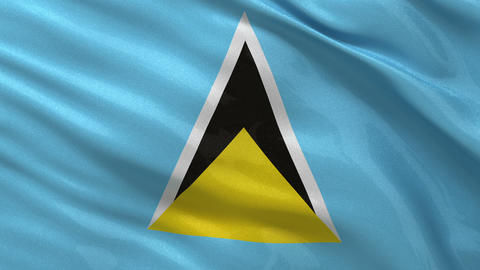 Flag of Saint Lucia seamless loop Stock Video Footage