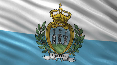 Flag of San Marino seamless loop Animation