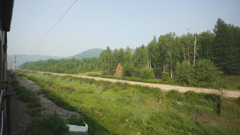 Train Transsib Zabaikalye 04 Stock Video Footage