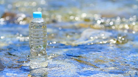 Pet bottle of pure water Footage