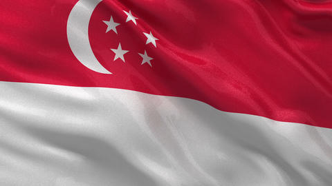 Flag of Singapore seamless loop Stock Video Footage