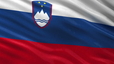 Flag of Slovenia seamless loop Animation