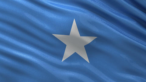 Flag of Somalia seamless loop Animation
