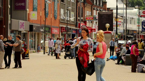 Shopping Centre. Centre Of Erdington In Birmingham stock footage