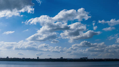 Clouds. Time lapse Footage