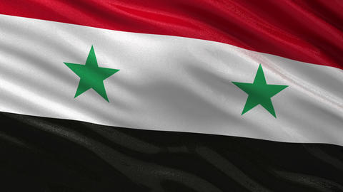 Flag of Syria seamless loop Animation