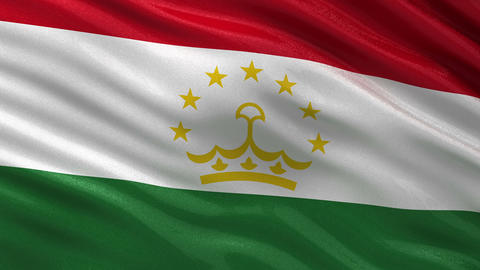 Flag of Tajikistan seamless loop Animation