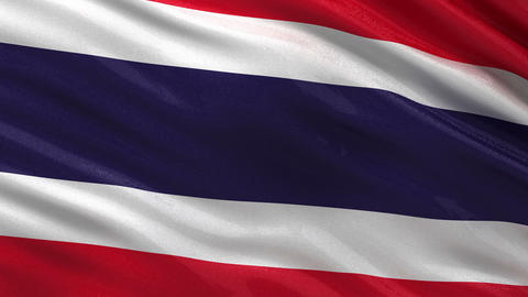 Flag of Thailand seamless loop Animation