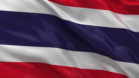 Flag of Thailand seamless loop Stock Video Footage