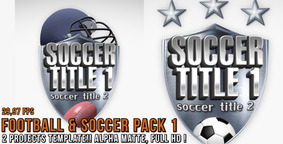 Soccer & Football Pack 1 After Effects Template