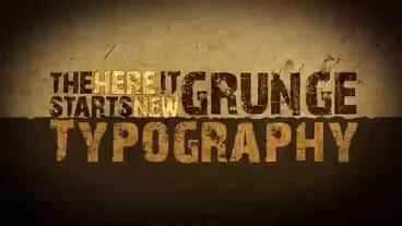 Grunge Style Kinetic Typography stock footage