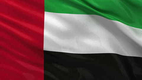 Flag of the United Arab Emirates seamless loop Stock Video Footage