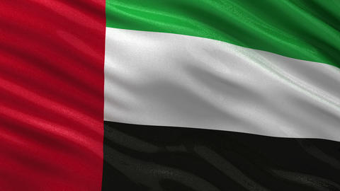 Flag of the United Arab Emirates seamless loop Animation