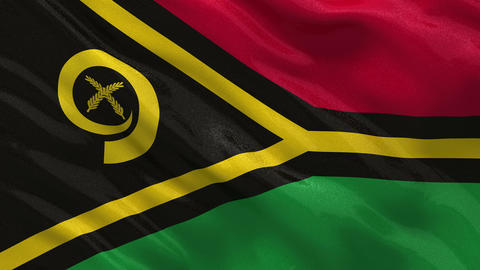 Flag of Vanuatu seamless loop Stock Video Footage
