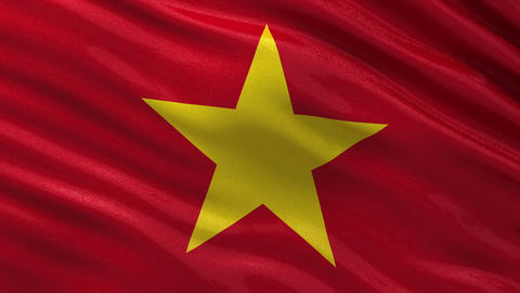 Flag of Vietnam seamless loop Animation