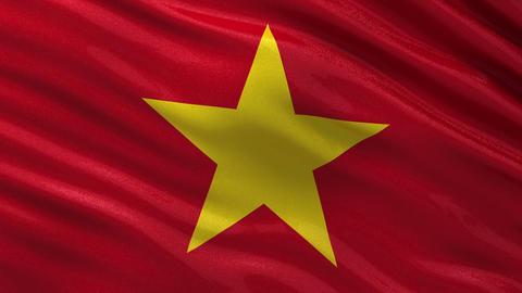Flag of Vietnam seamless loop Animation