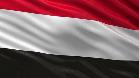 Flag of Yemen seamless loop Animation
