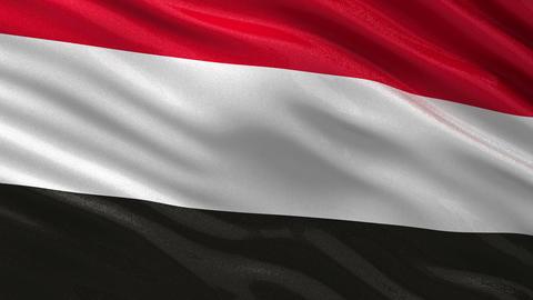 Flag of Yemen seamless loop Animation