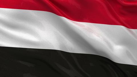 Flag of Yemen seamless loop Stock Video Footage