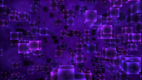 Abstract Cubes Animation - Loop Purple Animation