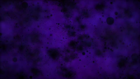 Travel Through Black Particles - Loop Purple stock footage
