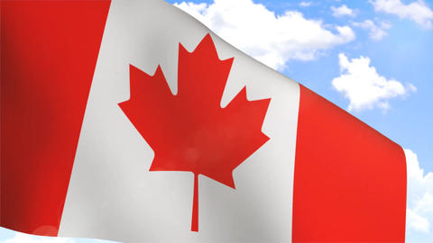 Waving Flag of Canada Animation