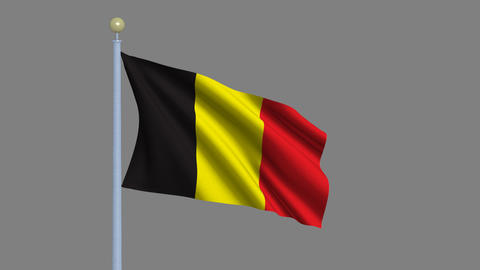 Flag of Belgium Animation