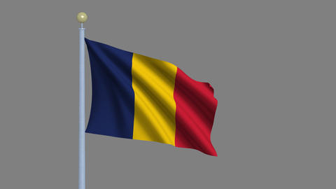Flag of Chad Animation