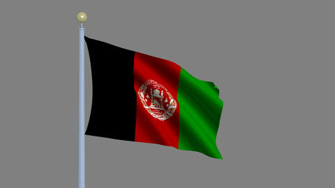 Flag of Afghanistan Animation