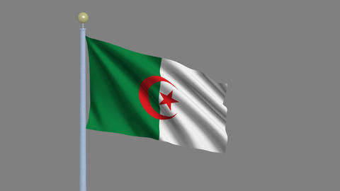 Flag of Algeria Animation