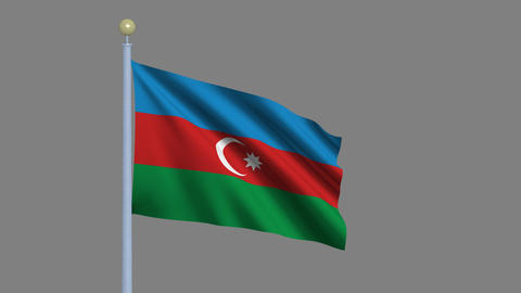azerbajian flag pole Animation