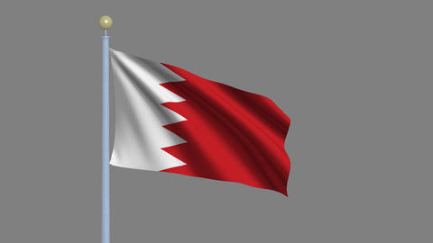 Flag of Bahrain Animation