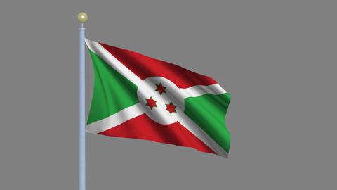 Flag of Burundi Animation